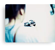 girl with an analogue camera Canvas Print