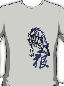 Wolf tribal tattoo T-Shirt
