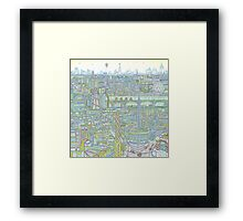 THE MEGATROPOLIS Framed Print