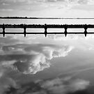 No wind on lake Grevelingen, The Netherlands by M. van Oostrum