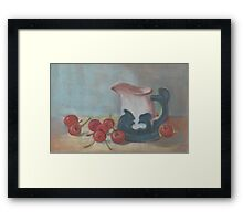 JUG and CHERRIES  Framed Print