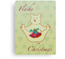 Flashy festive bear Canvas Print