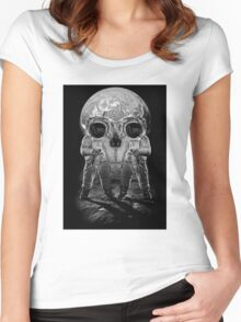 Astronaut Skull Women's Fitted Scoop T-Shirt