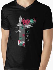 The Truth Behind Tetris Mens V-Neck T-Shirt