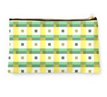 Boxes in Green & Yellow Studio Pouch