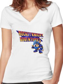 Rocket Knight Adventures Women's Fitted V-Neck T-Shirt