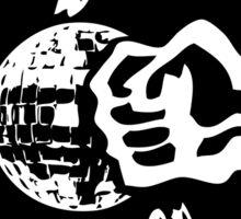 Gegen Disco (white + black) Sticker