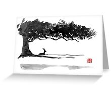 deer under a tree Greeting Card