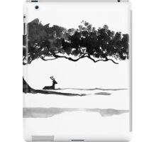 deer under a tree iPad Case/Skin