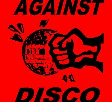 Against Disco (black + red) by Bela-Manson