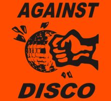 Against Disco (black print) by Bela-Manson