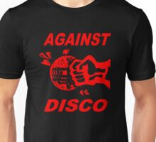 Against Disco (red print) Unisex T-Shirt