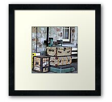 WEIGH IN . Framed Print