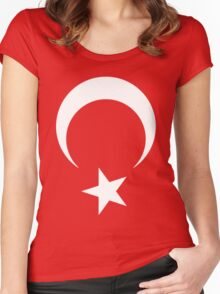 Turkish flag Women's Fitted Scoop T-Shirt