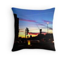 London super sky at dusk... Throw Pillow