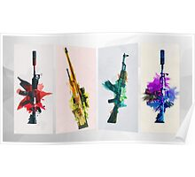 CS:GO Colorful Weapons Poster