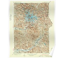USGS Topo Map Washington State WA Mt Rainier 242670 1928 125000 Poster