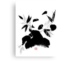 panda lunch Canvas Print