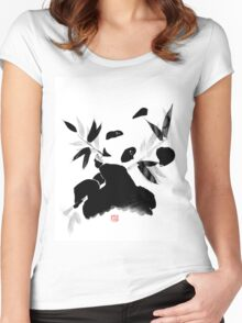 panda lunch Women's Fitted Scoop T-Shirt