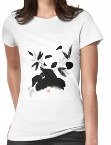 panda lunch Womens Fitted T-Shirt