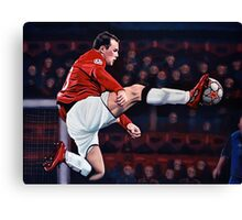 Wayne Rooney painting Canvas Print