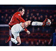 Wayne Rooney painting Photographic Print