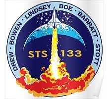 STS-133 Flight Crew Mission Patch Poster