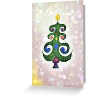 Magical Christmas Tree Greeting Card