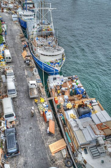 Loading Day at Potter's Cay Dock in Nassau, The Bahamas by 242Digital