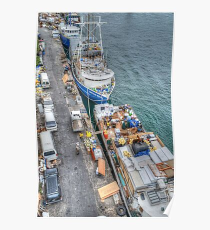 Loading Day at Potter's Cay Dock in Nassau, The Bahamas Poster