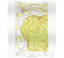 USGS Topo Map Washington State WA Monroe 242370 1953 24000 Poster