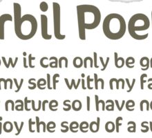 Gerbil Poetry - Sunflower Seeds Sticker
