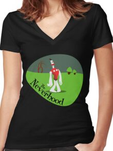 Game - The Neverhood Women's Fitted V-Neck T-Shirt