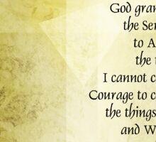 Serenity Prayer Azalea Gentleness Sticker