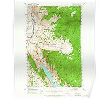 USGS Topo Map Washington State WA Omak Lake 242947 1953 62500 Poster