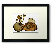space monkey rescue Framed Print
