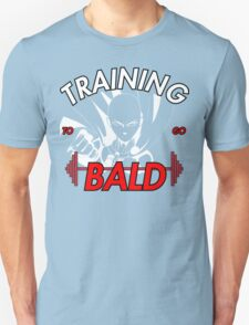 Keep Training To Go Bald!! Onepunch - Man (White) T-Shirt