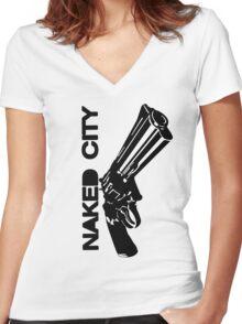 Gun Women's Fitted V-Neck T-Shirt