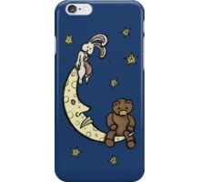 Teddy Bear and Bunny - Caught In The Moonlight iPhone Case/Skin