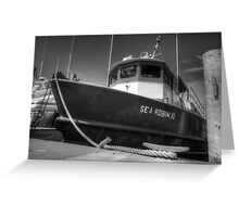 Sea Robin II docked at the Marina in Nassau, The Bahamas Greeting Card