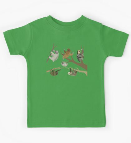 Know Your Sloths Kids Tee