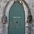 Door to the Medieval Room, Kilkenny Castle, Ireland by Mary Fox