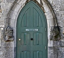 Door to the Medieval Room, Kilkenny Castle, Ireland by Mary Fox