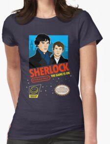 Sherlock NES Game Womens Fitted T-Shirt