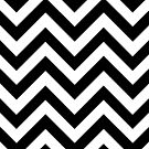 Black and White Chevrons by pondripple