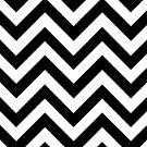 Black and White Chevrons by pondripple