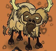 Shaved Beefalo, don't starve by Cheezwiz