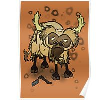 Shaved Beefalo, don't starve Poster