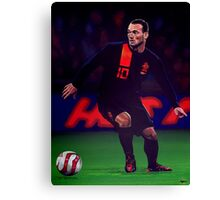 Wesley Sneijder painting Canvas Print