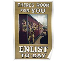 Theres room for you Enlist to day 305 Poster